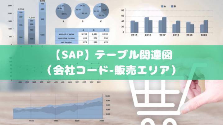 【SAP】テーブル関連図(会社コード-販売エリア)