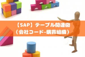 【SAP】テーブル関連図(会社コード-購買組織)