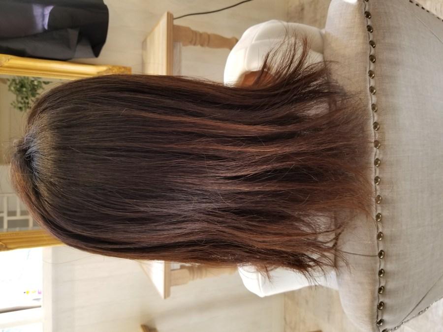 短い毛やダメージのお悩みをストレートエステで改善 国分寺 髪質改善 美容室 LAND