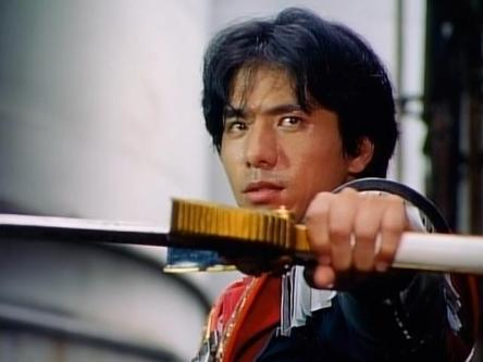 Ogawa as Hyuuga/Black Knight in Seiju Sentai Gingaman