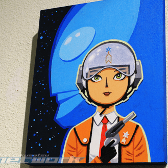 """""""Akiko Fuji of the Science Patrol"""" by Anthony Carpenter"""