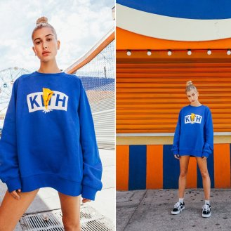 T-shirts and hoodies are available with the Kith logo with a lightning bolt through the middle just like the original Power Rangers logo. Photo Credit: Nolan Persons