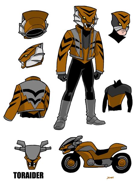 Joel's tokusatsu-inspired original character, Toraider