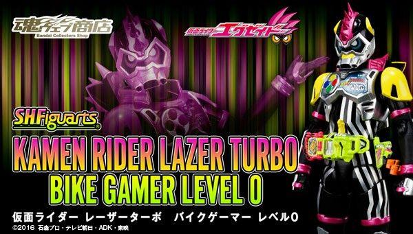 S.H.Figuarts Kamen Rider Lazer Turbo Bike Gamer Level 0 Announced By Premium Bandai