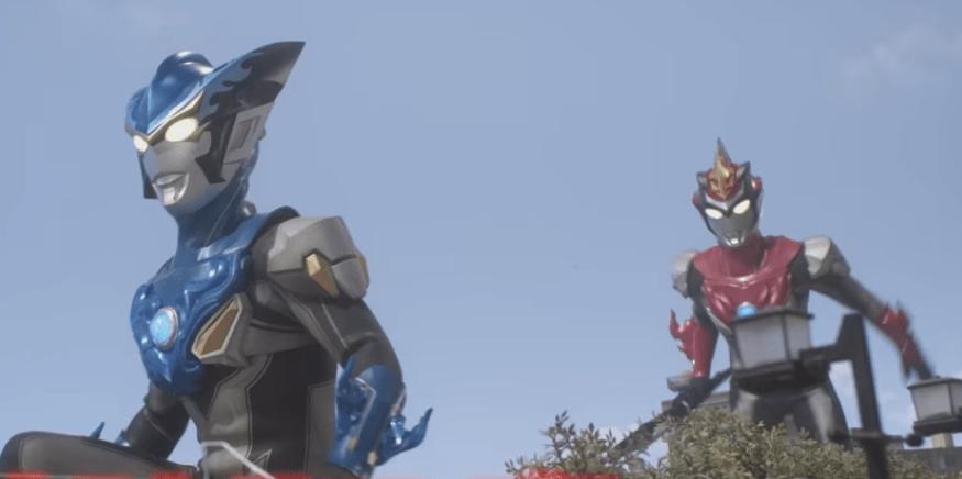 Ultraman Rosso Aqua and Ultraman Blu Flame