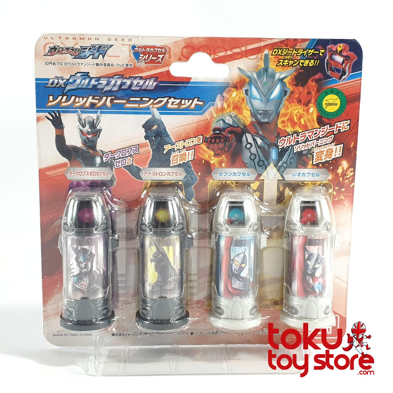 Bandai Ultraman Ultraman GEED DX Ultra Capsule Solid Burning set Japan
