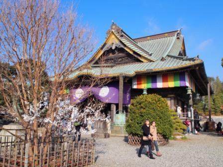 Buddha Hall, the old main hall of Shinshoji Temple.