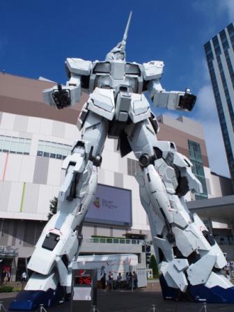 full scale unicorn gundam, odaiba, tokyo, japan