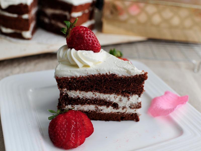 巧克力鮮奶油戚風蛋糕 by Joy廚房煮食 - 愛料理