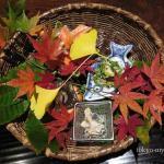 秋山の紅葉を飾り付けた八寸