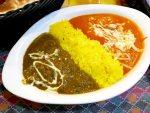 麹町:ビニタダイニング どっちも食べたい!2色のカレーのガッツリランチ。