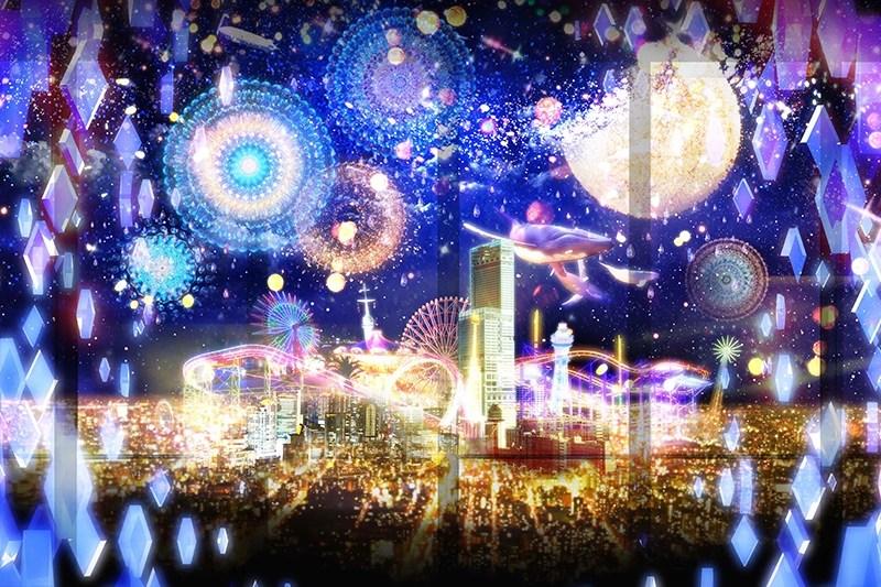 幻想的!あべのハルカス CITY LIGHT FANTASIA by NAKED 夜景×マッピング・イリュージョン