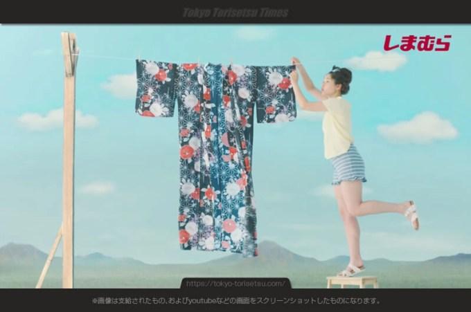 しまむら新CM洗ってさらさら夏浴衣で縁日や花火デートの女性は?白本彩奈出演CM