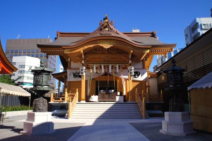 新装なった水天宮拝殿