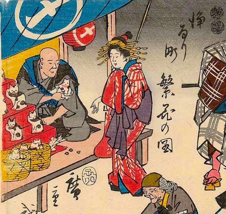 広重『浄るり町繁花の図』/1852(嘉永5)年