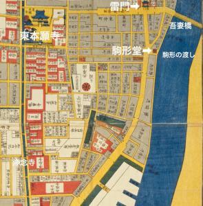 吾妻橋・駒形・浅草周辺古地図