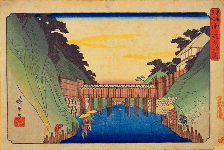 喜鶴堂『東都名所 御茶之水之図』