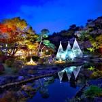 肥後細川庭園『秋の紅葉ライトアップ-ひごあかりー』