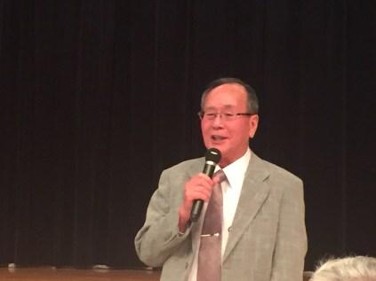 二次会での高田顧問あいさつ