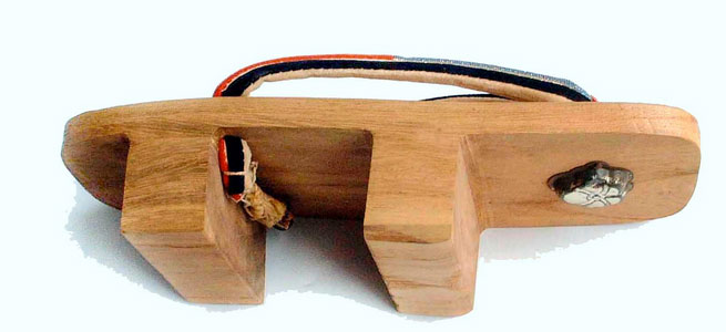 geta houten Japanse schoen