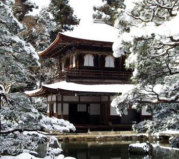 Ginkaku-ji in de winter