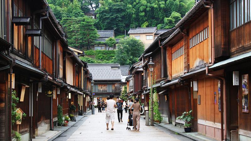 Higashi de Geisha wijk in Kanazawa