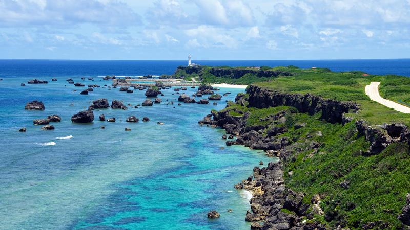 Stranden van Okinawa Japan