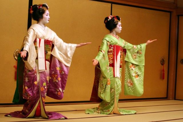 Гейша японский танец