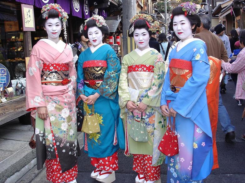 Geisha's in de wijk Gion Kyoto