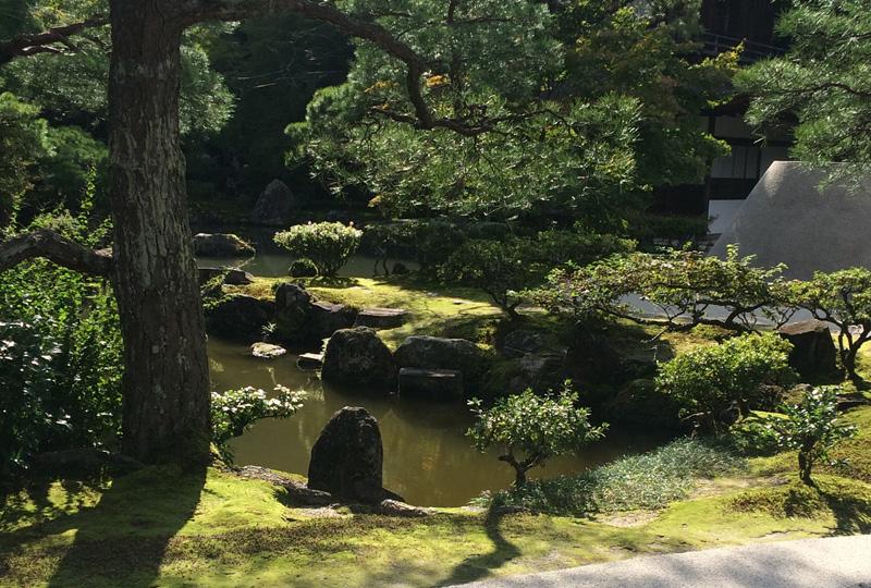 Ginkakuji tempel zen tuin
