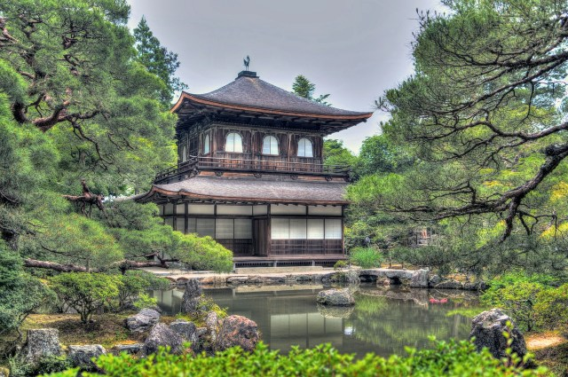 Храм Гинкаку Цзи в Киото Хонсю