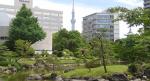 Former Yasuda garden – Japanese garden near the Edo Tokyo Museum Ryogoku Kokugikan