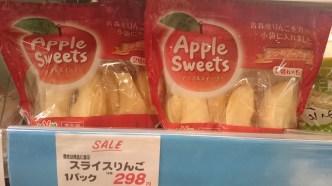 apple slices for 3 euros