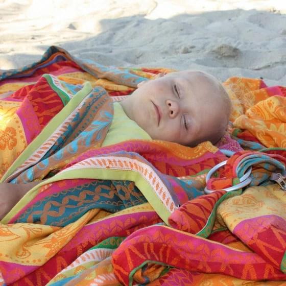 Hoppediz Baby woven Wrap Sling Sunny Mind