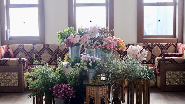 2020年2月のフローラル・ワークショップ「香りの花束づくり」