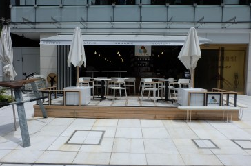 Exterior Shot of Coutume Coffee Aoyama Tokyo Japan