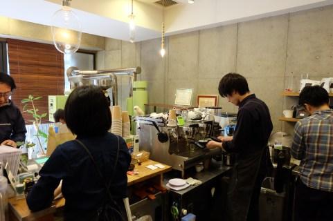 Interior Workspace of Amameria Espresso Shinagawa Tokyo Japan Cafe