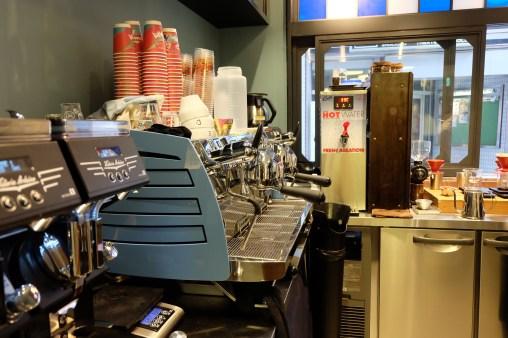 Black Eagle Espresso Machine at Sarutahiko Coffee in Beams Japan Shinjuku Tokyo