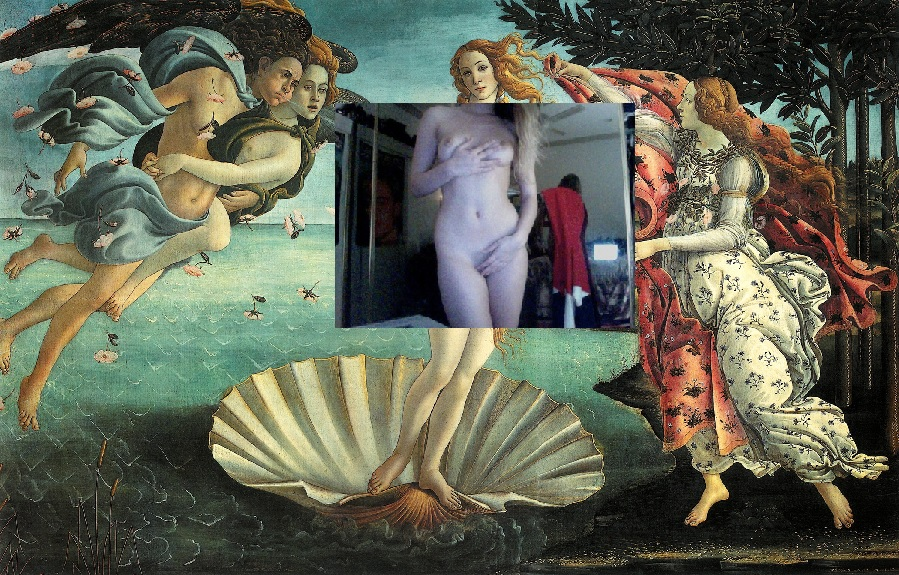 camgirls-project-in-progress-2013-Sandro-Botticelli-The-Birth-of-Venus-1486-X-Anonymous