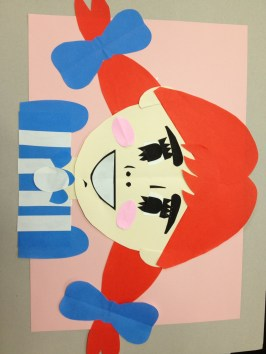 Tuesday arts & crafts aka design class - Wendy's girl!