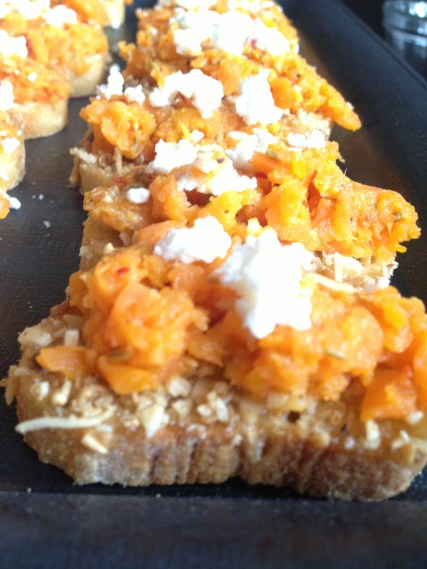 Carrot Puree, Feta, & Dukkah