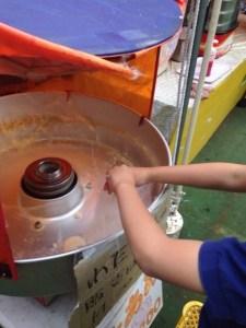 にこにこパーク 綿菓子作るぞい、の巻