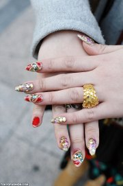 japanese nail art & moccasin boots