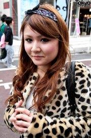bandana hair bow cheetah print