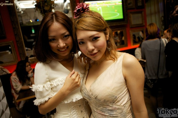 Cute girls at the Grimoire party in Tokyo.