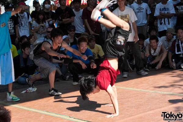 Breakdancing in Tokyo