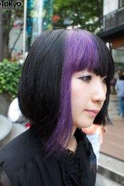 purple hair borders skirt & black