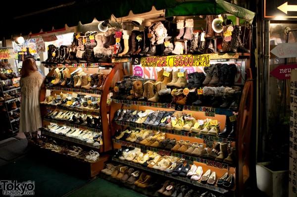 Fur Boots in Harajuku