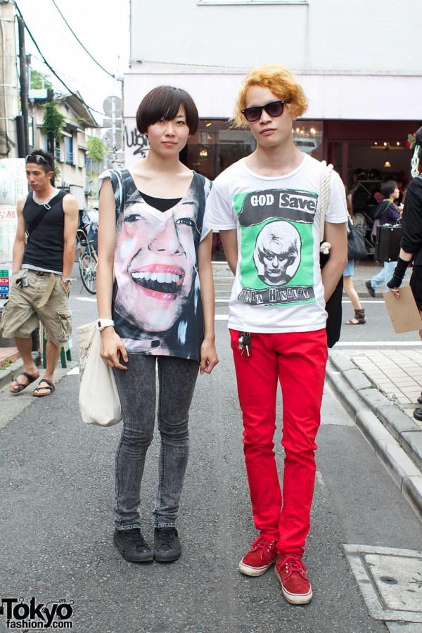 H&M Skinny Pants & Graphic T-Shirts
