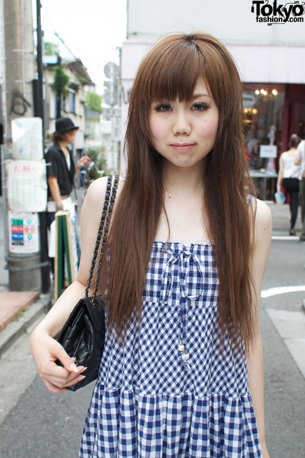 Blue gingham dress from Jayro